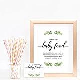 Baby Food Printable Shower Game