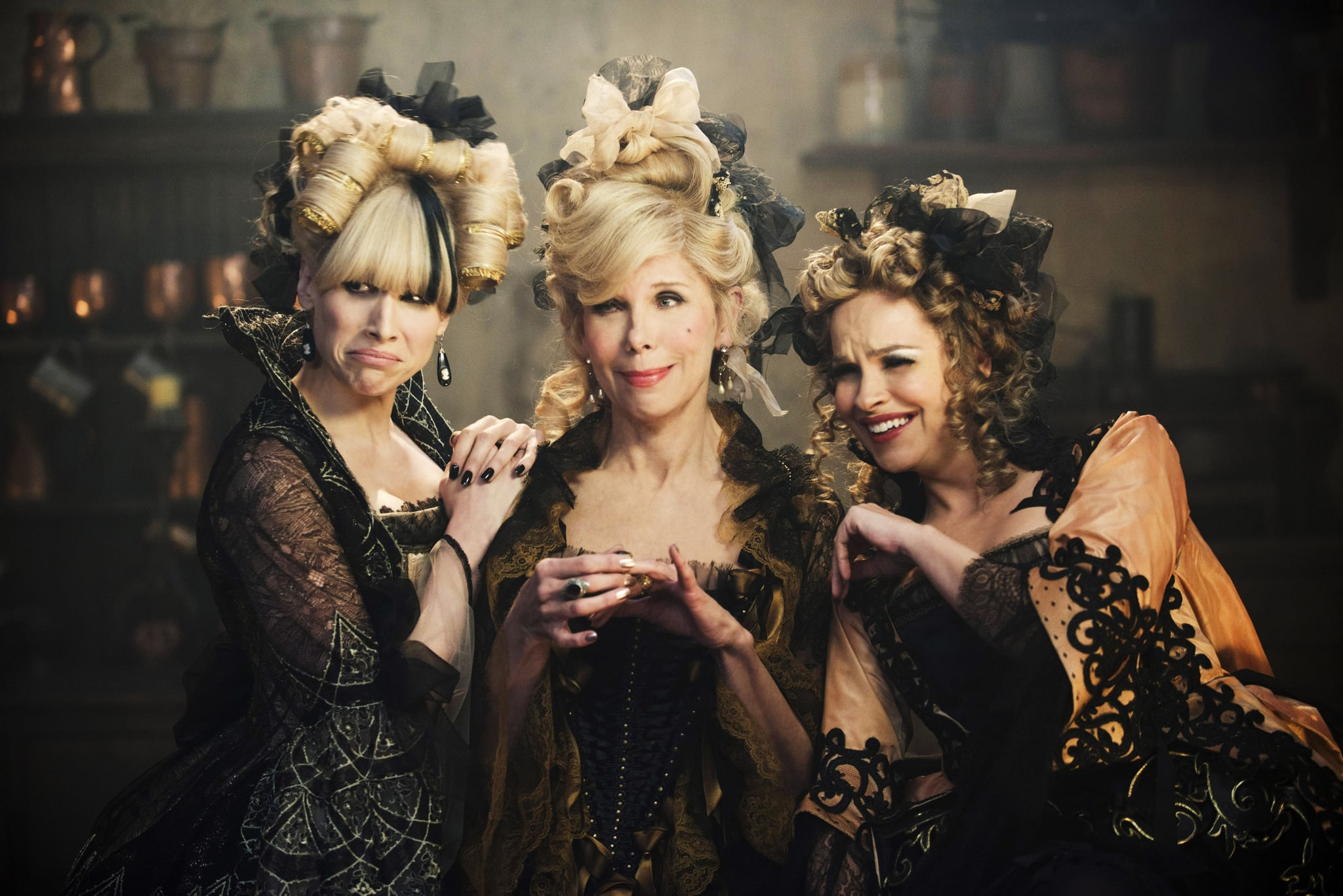 INTO THE WOODS, from left: Lucy Punch, Christine Baranski, Tammy Blanchard, 2014. ph: Peter Mountain/Walt Disney Studios Motion Pictures/Courtesy Everett Collection
