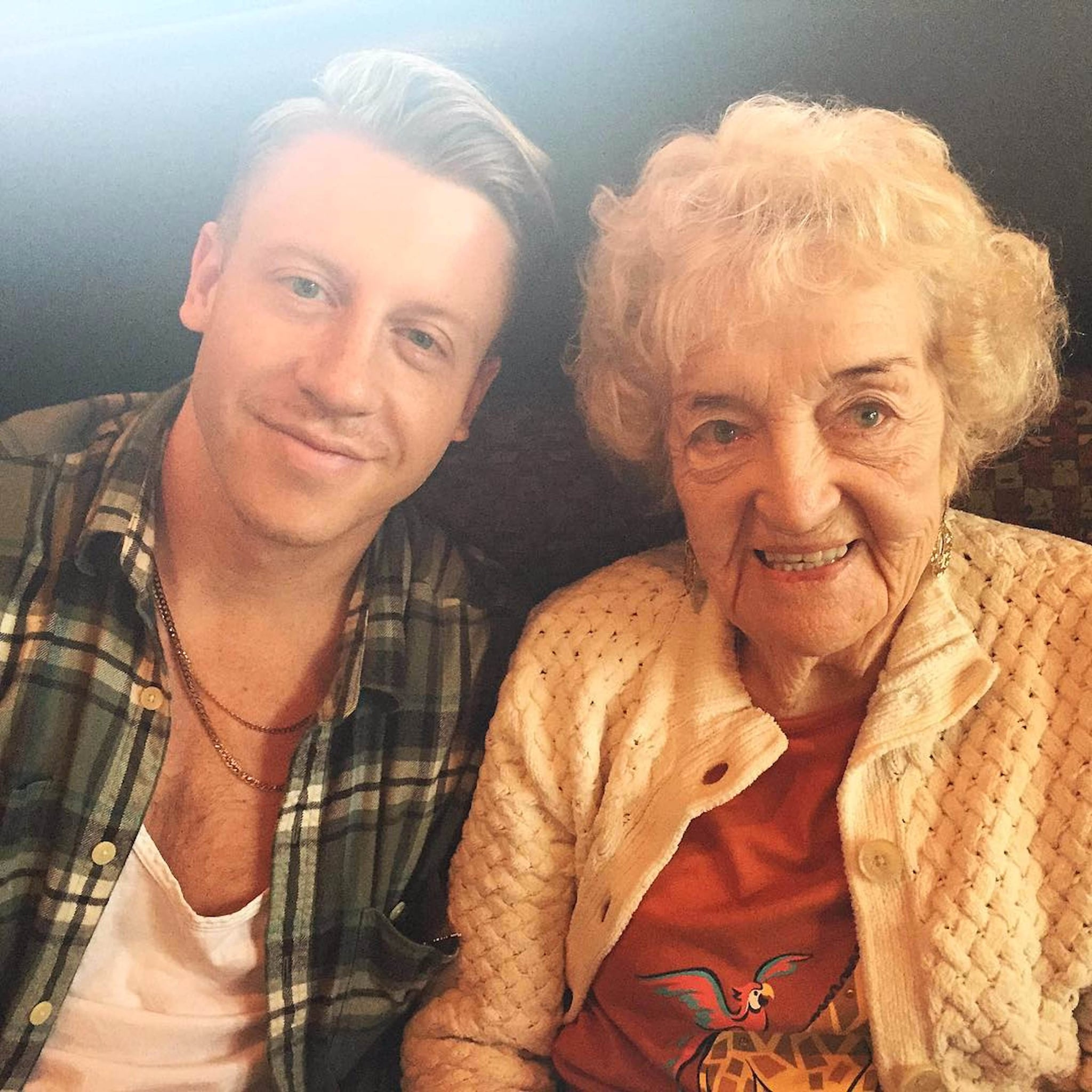 macklemore and his grandma helen pictures popsugar celebrity