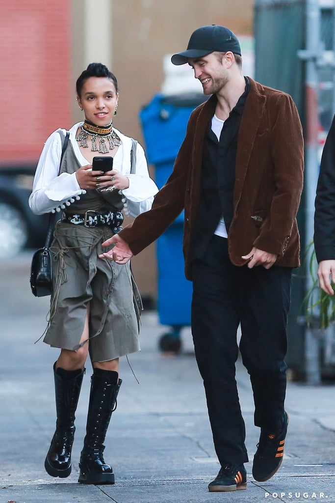 Robert Pattinson and FKA Twigs have been keeping a low profile as of late, but on Saturday, the couple resurfaced to ring in Rob's 31st birthday. The engaged pair, who first got together in August 2014, were photographed showing some sweet PDA at Akasha restaurant in LA. The two looked absolutely smitten with each other as they shared a few laughs and hugs throughout the night. At one point, Rob even planted a sweet kiss on Twigs's forehead. The last time these two hit a red carpet together was at the London premiere of Rob's film The Lost City of Z in February, though they were spotted out on a jog with their dog in Malibu, CA, last week.