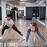 Then do a side lunge and incorporate a reach with your arms.