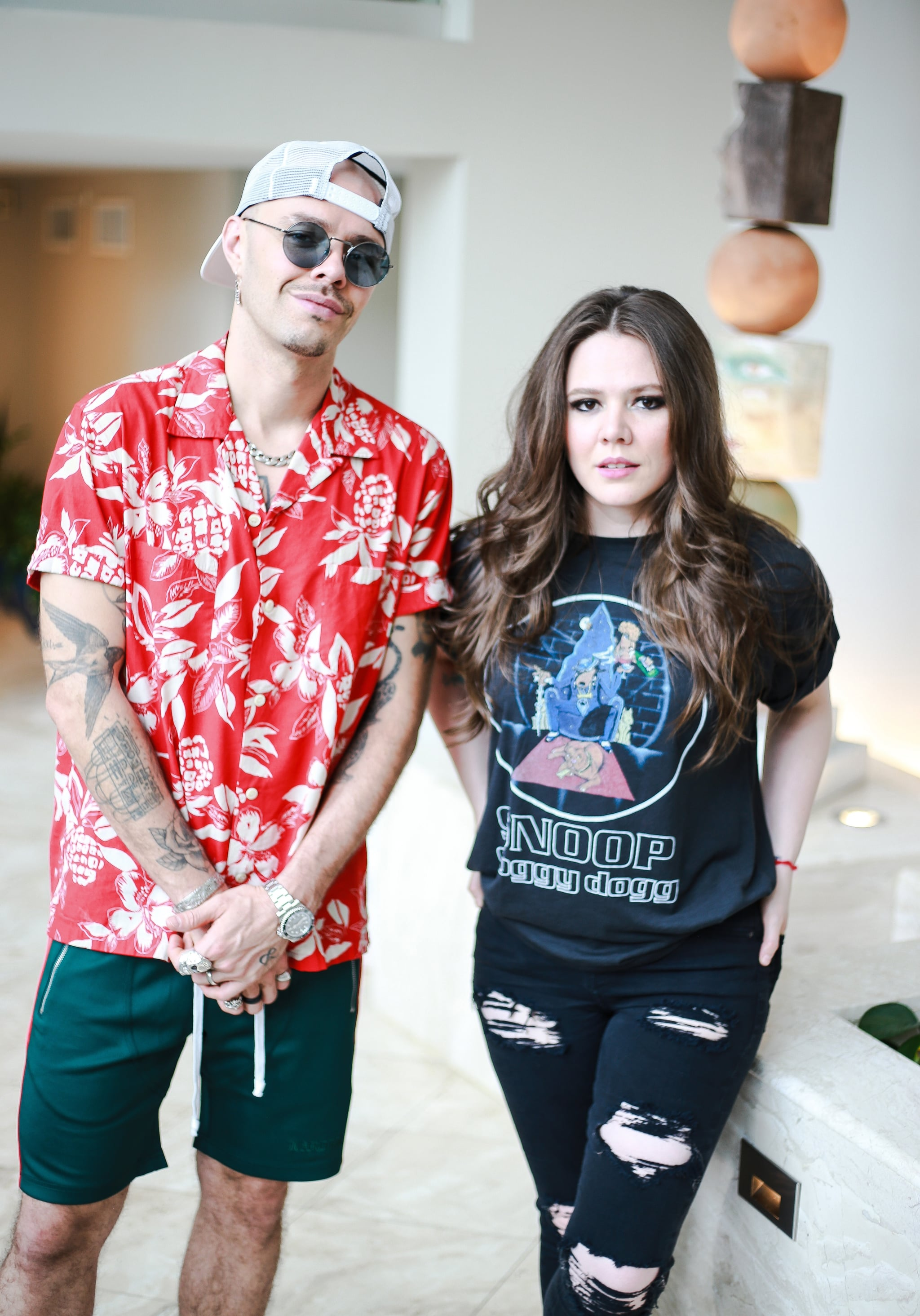 SAN JUAN, PUERTO  RICO- MAY 6: Jesse Huerta and Joy Huerta of Jesse & Joy attend a photo call as part of their media tour at Condado Vanderbilt Hotel on May 6, 2019 in San Juan, Puerto Rico. (Photo by Gladys Vega/Getty Images)