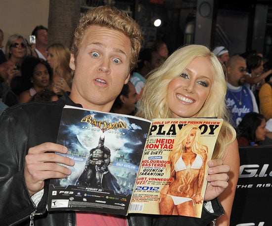 Slide Photo of Heidi Montag, Spencer Pratt Showing Heidi's Playboy Cover at GI Joe Premiere