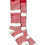Gap Patchwork Knit Knee-High Socks