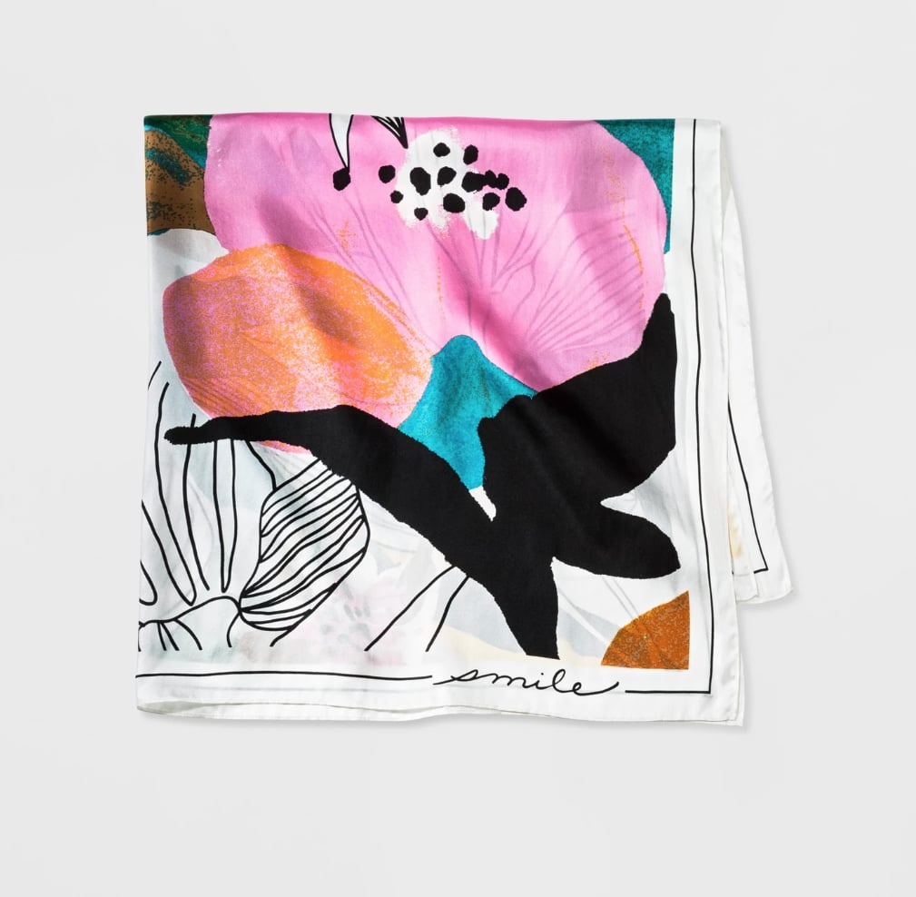 A New Day Floral Silk Scarf ($25)