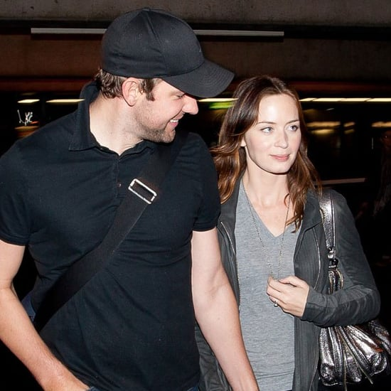 Emily Blunt and John Krasinski at LAX Pictures