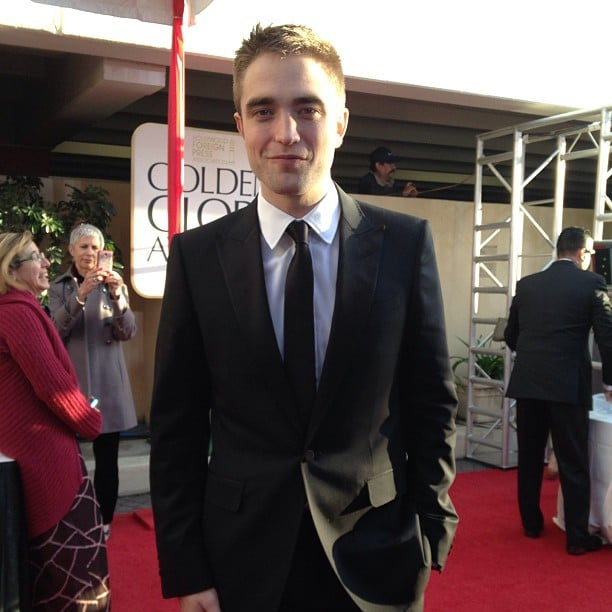 Robert Pattinson hit the Golden Globes red carpet in a Gucci tuxedo. Source: Instagram user goldenglobes