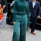 Jennifer Lopez Wearing Sally LaPointe in NYC