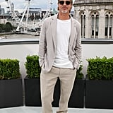 Brad Pitt at the London photocall of Once Upon a Time in Hollywood.