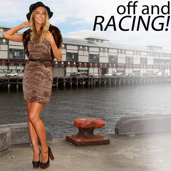 Jennifer Hawkins, Kris Smith and Rebecca Judd Show Off Their Autumn Racing Season Style for Myer in Sydney!