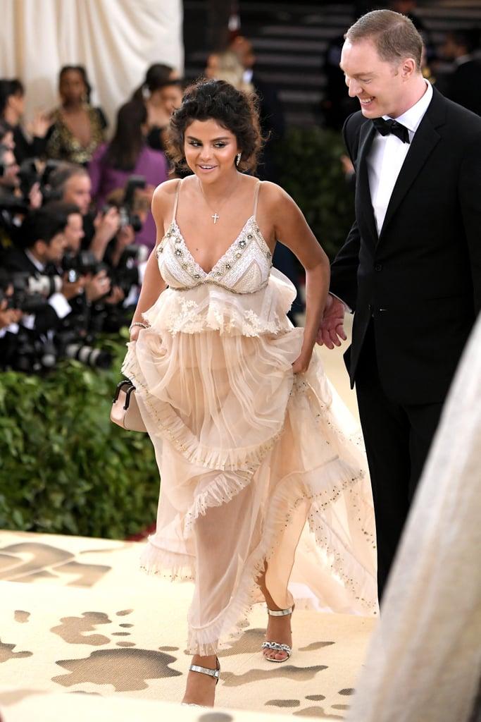 876a90e1612 Selena Gomez Coach Dress Met Gala 2018