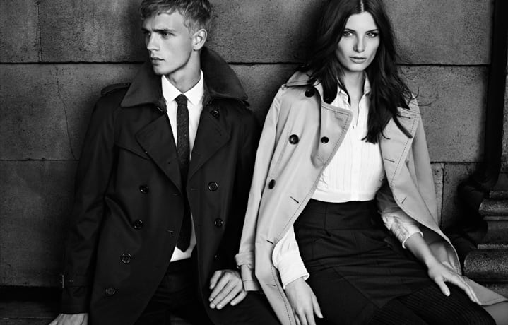 We could never resist a slick Burberry Black Label trench coat.