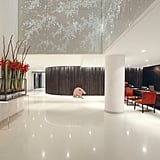 If anything's an indication of how stylish the hotel, it's the bright and shiny lobby which features chic art installations, often the location of events.