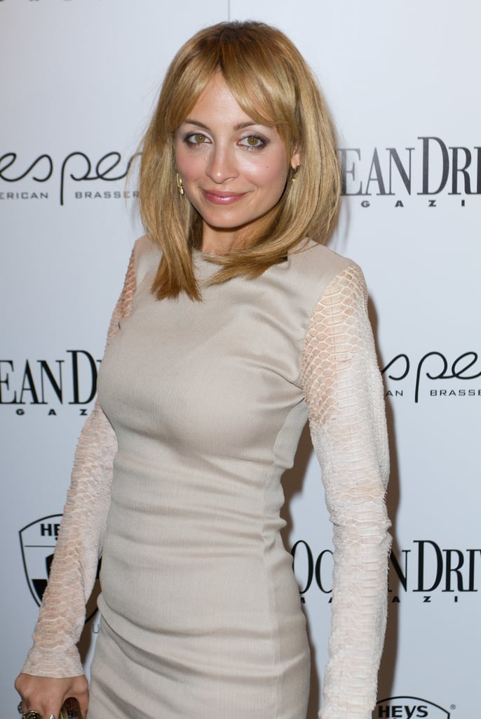 Nicole Richie wore a nude minidress to the event.