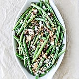 Green Beans With Bacon, Caramelized Shallots, Almonds, and Feta