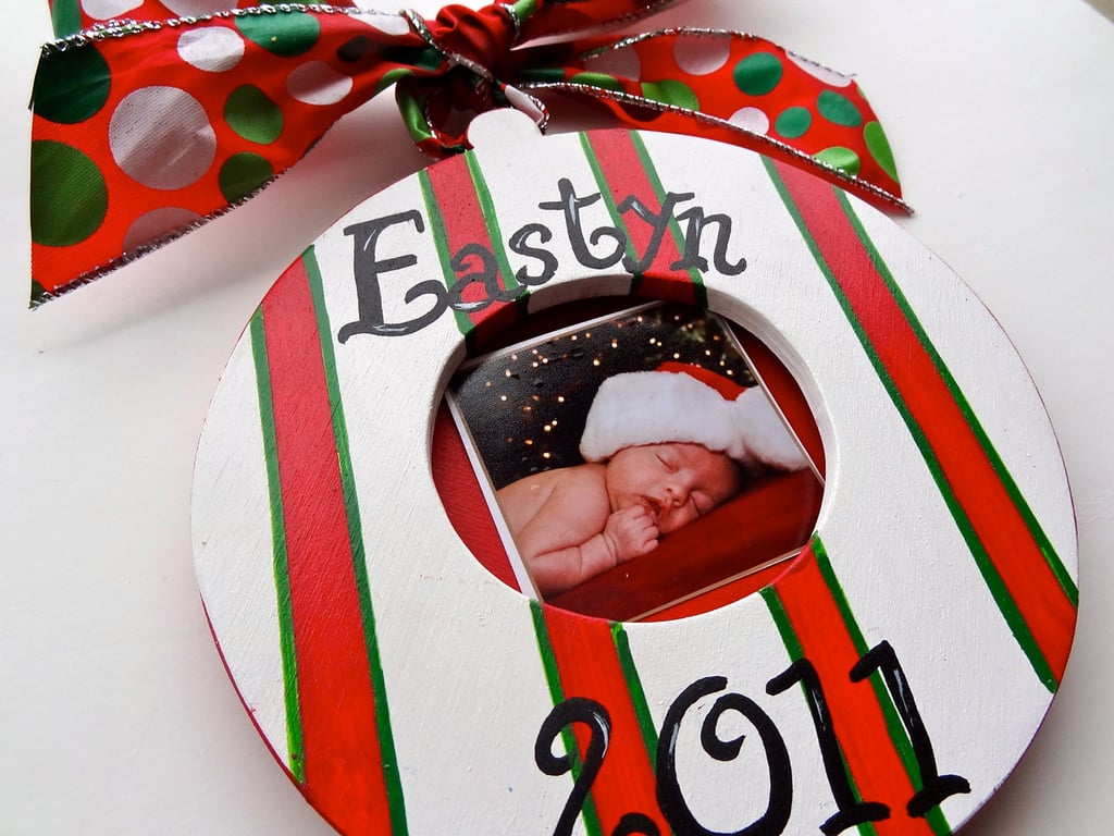 Personalized ornaments for kids - Handpainted Photo Ornament
