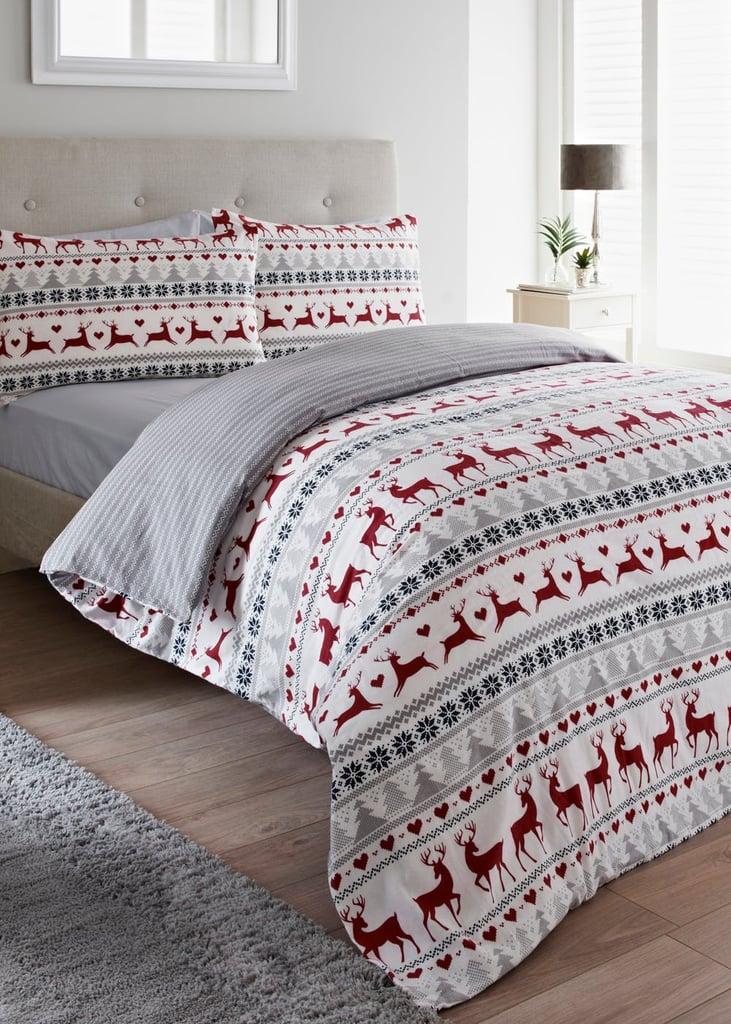 Matalan Fairisle Flannel Christmas Duvet Set
