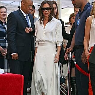 Victoria Beckham White Outfit at Eva Longoria Star Ceremony
