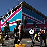 People walked past the Union Jack-adorned John Lewis department store in London.