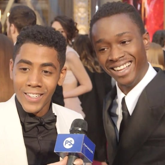 Moonlight's Ashton Sanders Jharrel Jerome Oscars Red Carpet