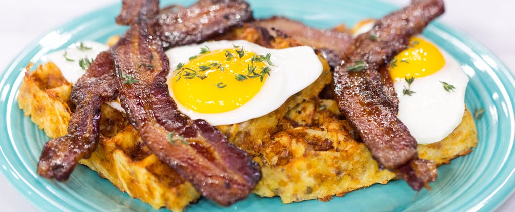 Must-Make For Easter Brunch: This Hash Brown Waffle Stack