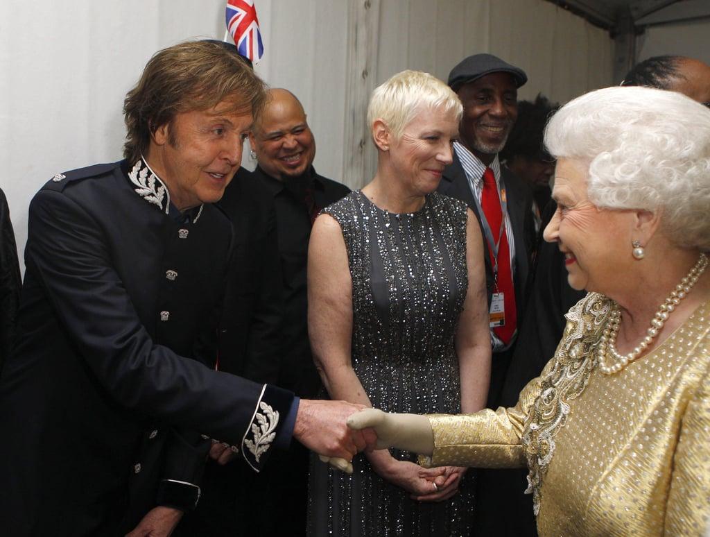 Королева и селебрити :-)