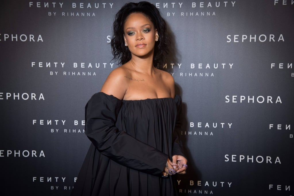 Rihanna Wearing Fenty Beauty Products