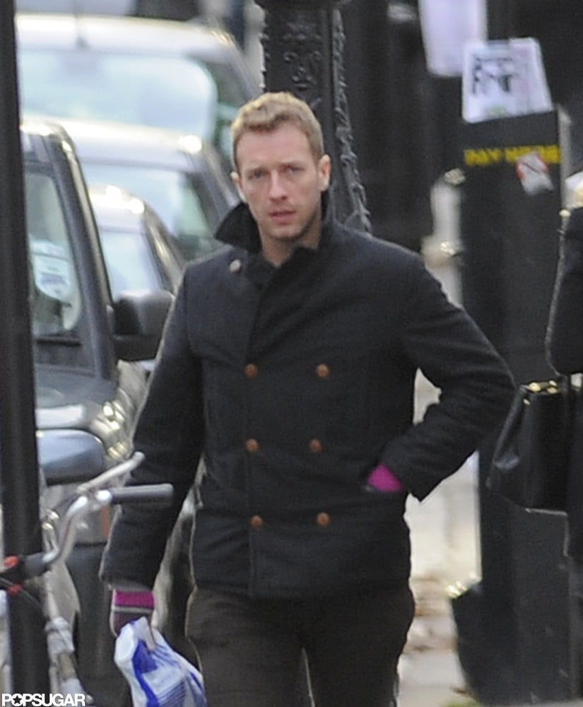 Chris Martin was out in London solo.