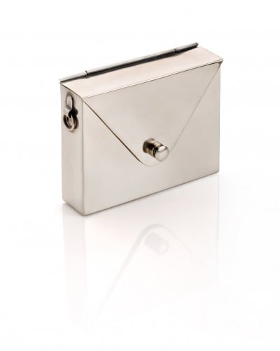 Metal Envelope Bag - Silver - JewelMint
