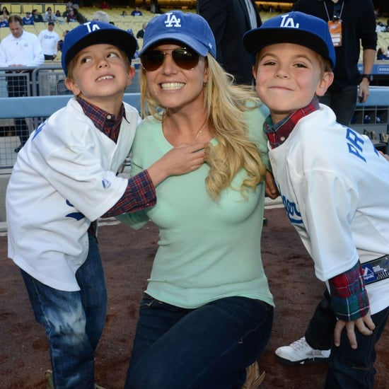 Britney Spears, Sons Jayden James & Sean Preston At Baseball