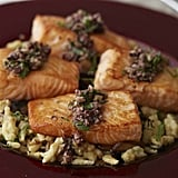 Pan-Roasted Salmon With Herb Gnochetti and Olive Vinaigrette