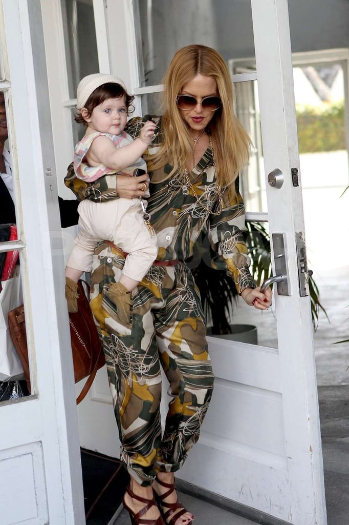 Rachel Zoe left a boutique in West Hollywood with Skyler on her hip.