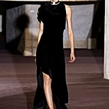 We can imagine her styling this one-shoulder piece with an embellished bag and diamonds for a formal event.