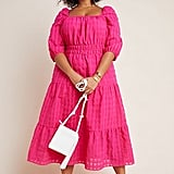 Anthropologie Francesca Tiered Midi Dress
