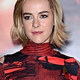 Jenna Malone's blond lob had loads of texture at a photocall that preempted the Catching Fire world premiere.