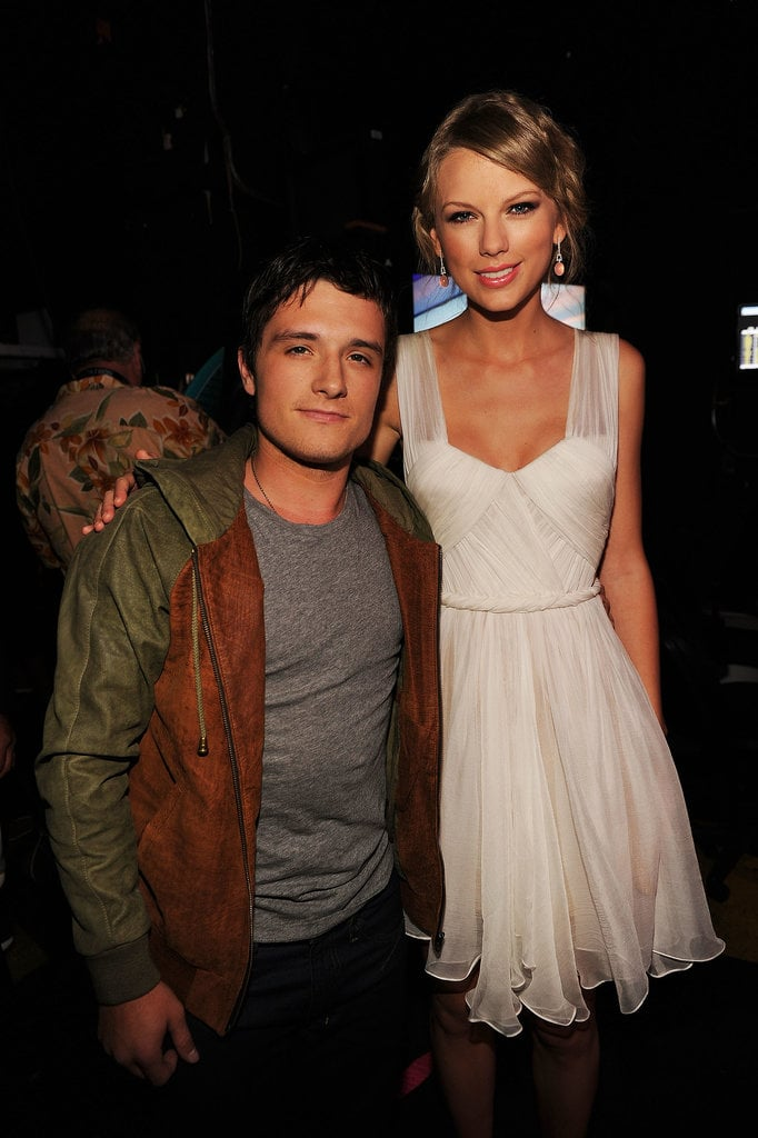 Josh Hutcherson and Taylor Swift linked up backstage in 2012.
