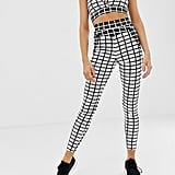 Missguided Gym Cropped Leggings in Mono Print