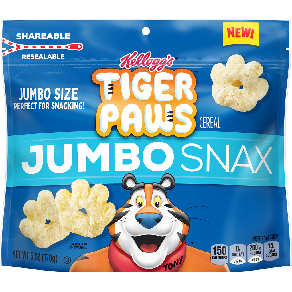 Kellogg's Frosted Flakes Tiger Paws Jumbo Snax Cereal