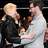 Pictured: Tilda Swinton and Jon Hamm