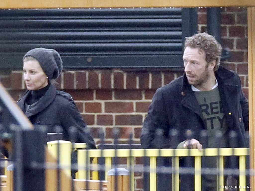 Chris Martin and Faith Hill watched their children play together.