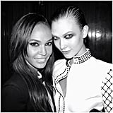 Joan Smalls and Karlie Kloss looked gorgeous at the Atelier Versace afterparty. Source: Instagram user joansmalls