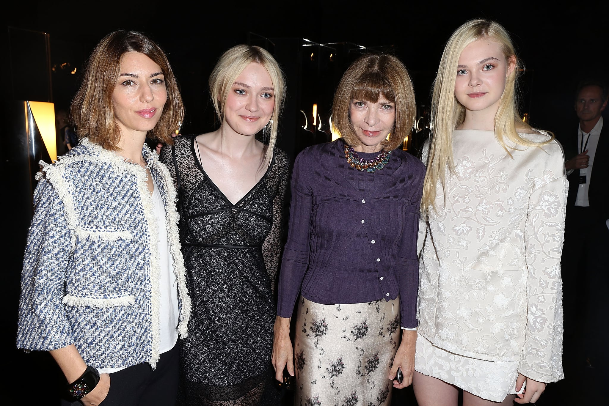 Sofia Coppola, Dakota Fanning, and Elle Fanning