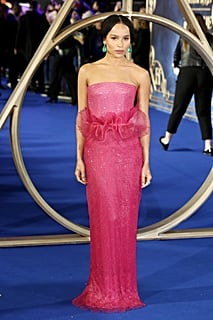 Zoë Kravitz Pink Gown at Fantastic Beasts 2 London Premiere