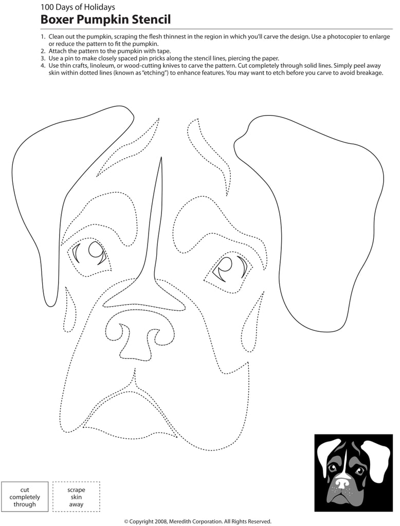 bulldog pumpkin stencil downloadable dog breed pumpkin stencils popsugar home 9600