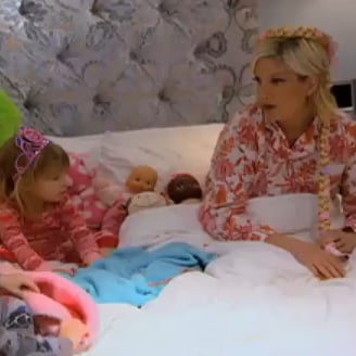Video of Tori Spelling Telling Bedtime Story to Kids