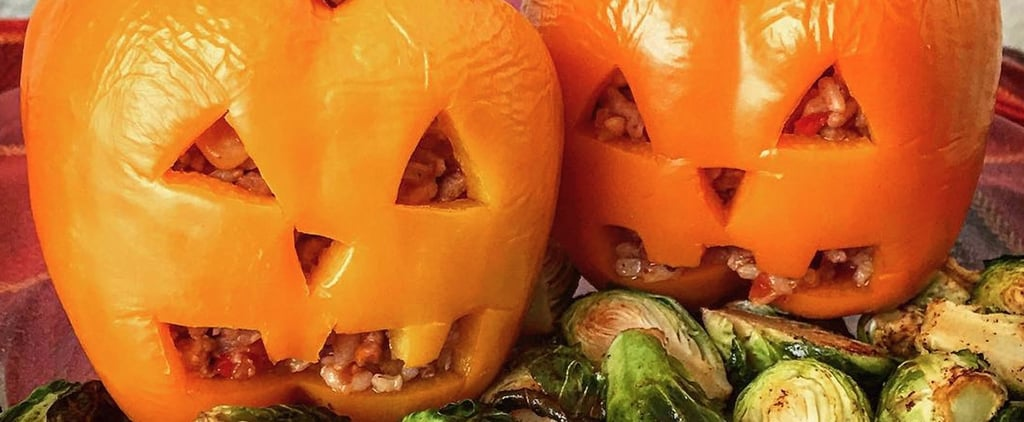 It's Scary How Easy It Is to Make These Jack-o'-Lantern Stuffed Capsicums