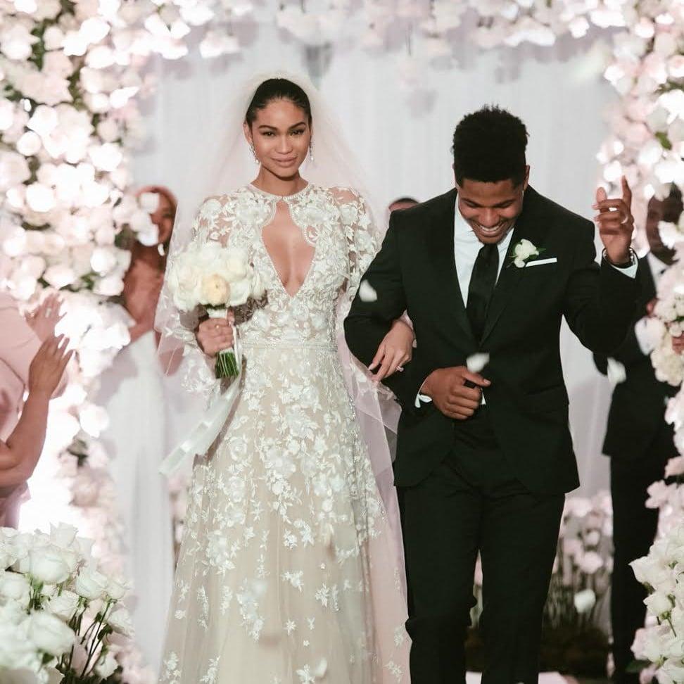 Chanel Iman Zuhair Murad Wedding Dress | POPSUGAR Fashion Australia