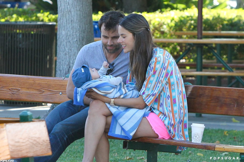 Alessandra Ambrosio and Jamie Mazur brought Noah to a park.