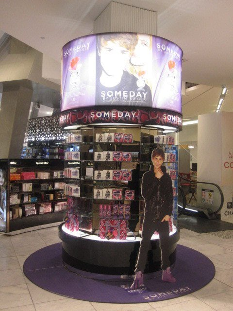 Justin Bieber Someday has arrived in Myer.