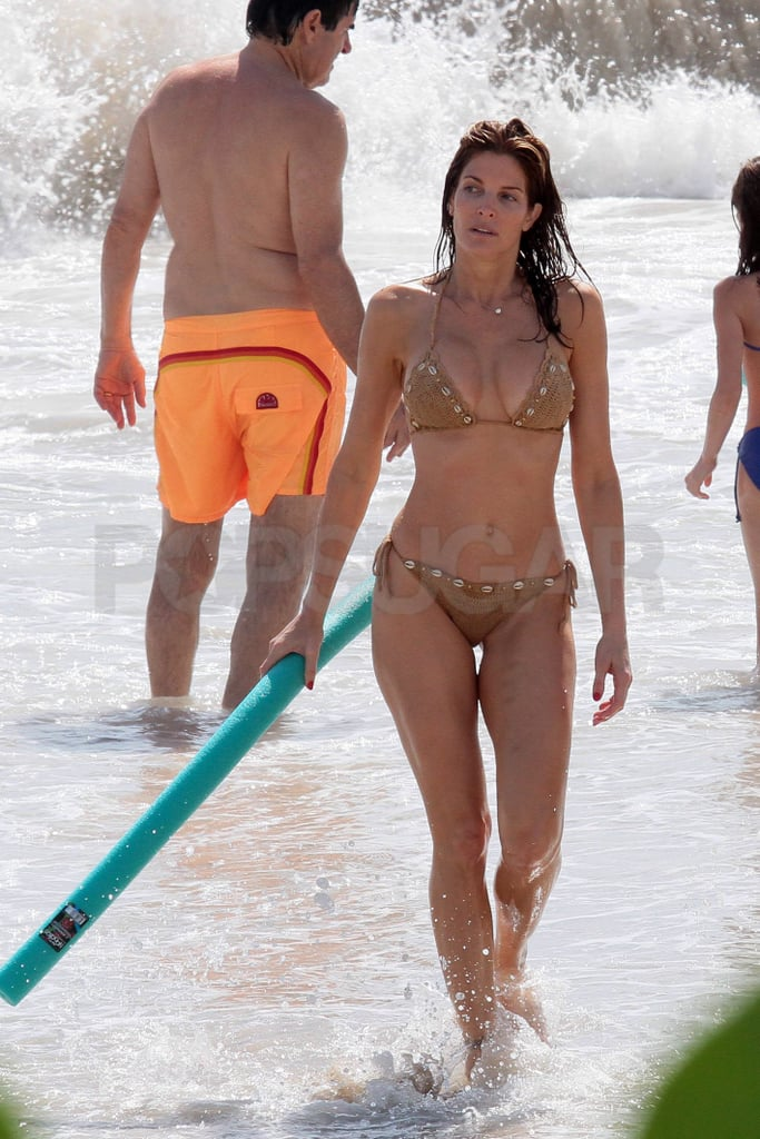 Stephanie Seymour showed off her bikini body in St. Barts